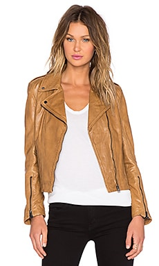 LaMarque Joanna Leather Jacket in Biscuit