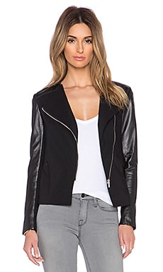 LaMarque Maude Leather Jacket in Black