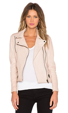 LaMarque Sadie Leather Jacket in Oatmeal
