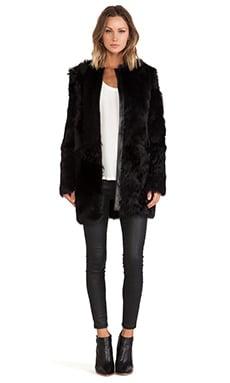 LaMarque Adrian Reversible Sheep Fur Jacket in Black