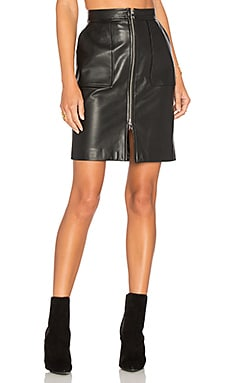 Amber L Pencil Skirt in Black