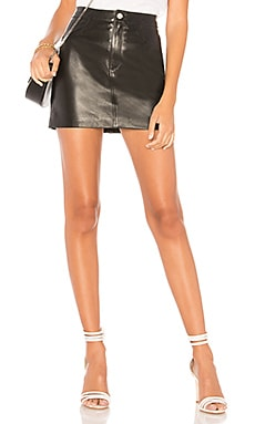 Melora Leather Skirt LAMARQUE $250