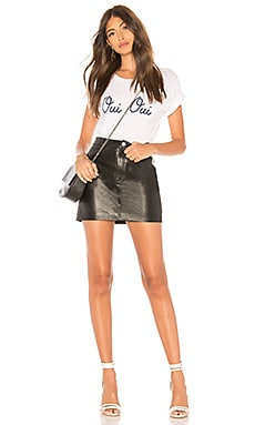 Coupon Lamarque Melora Leather Skirt