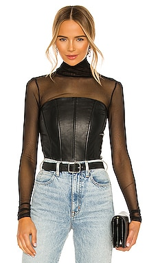 Davina Leather Corset LAMARQUE $350 BEST SELLER