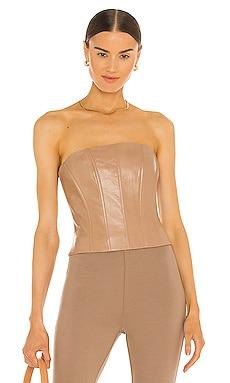 x REVOLVE Davina Leather Corset LAMARQUE $315