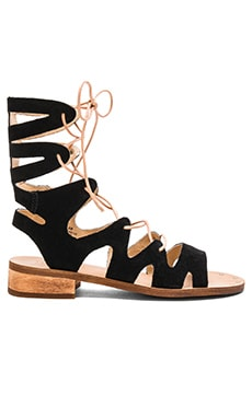 Latigo Rapper Sandal Suede in Black