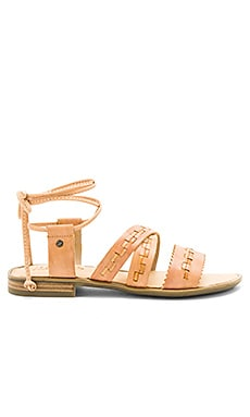 Gem Sandal in Dark Natural
