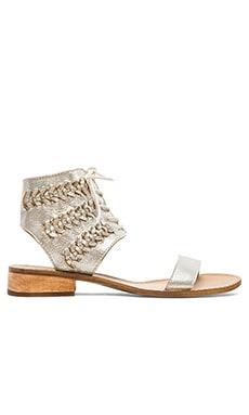 Latigo Rose Sandal in Silver