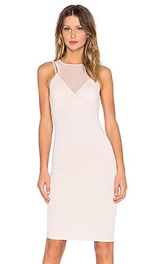 Lavish Alice Mesh Top Dress in Nude