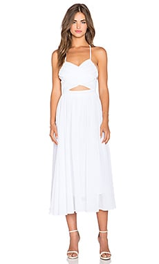Lavish Alice Cut Out Dress in White