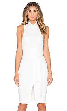 Lavish Alice Cross Strap Midi Dress in White