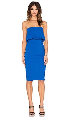 Lavish Alice Layered Strapless Dress in Cobalt