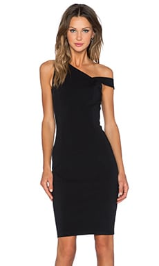 Lavish Alice Midi Dress in Black