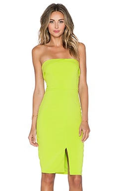 Lavish Alice Strapless Midi Dress in Lime