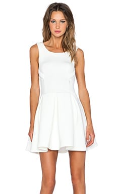 Lavish Alice Fit & Flare Dress in White