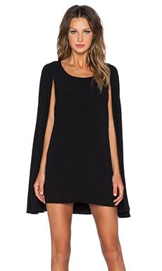 Lavish Alice Cape Back Mini Dress in Black