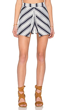 Stripe Skort in Navy & White