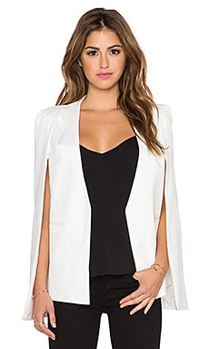 Lavish Alice Cape Blazer in White