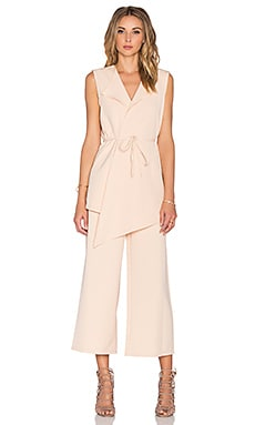 Lavish Alice Culotte Jumpsuit in Nude