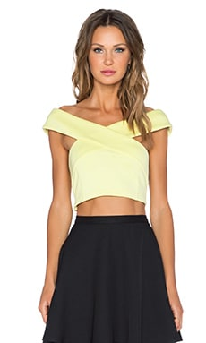 Lavish Alice Off Shoulder Crop Top in Lime