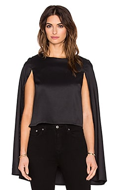 Lavish Alice Cape Top in Black