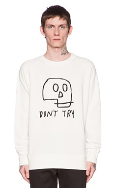 Lazy Oaf Don't Try Sweatshirt in White