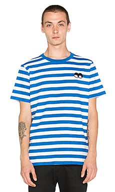 Lazy Oaf Eye Stripe Tee in Blue