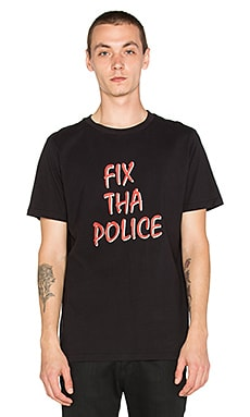 Lazy Oaf Fix The Police Tee in Black