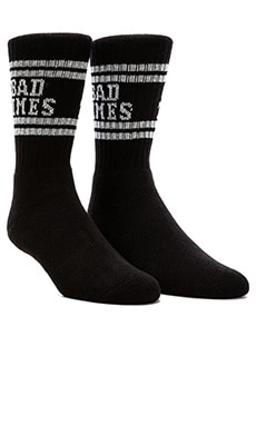 Lazy Oaf Good Times Tube Socks in Black