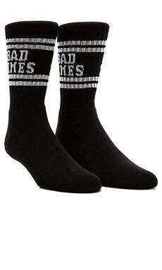 Lazy Oaf Good Times Tube Socks in Black