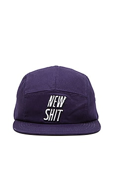 Lazy Oaf New Shit Cap in Navy