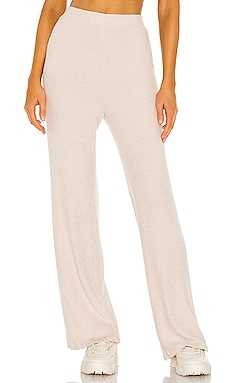 Erin Wide Leg Ribbed Cozy Pant LBLC The Label $115
