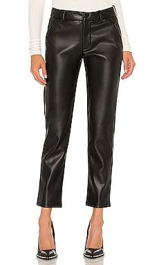 Franny Vegan Leather Trouser LBLC The Label $140 NEW