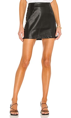 Abby Vegan Leather Mini Skirt LBLC The Label $106