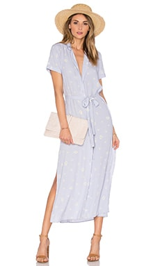 L'Academie The Maxi Shirt Dress in Daisy