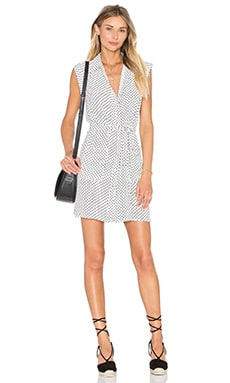 L'Academie The Sleeveless Shirt Dress in Dot