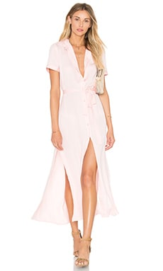 L'Academie The Maxi Shirt Dress in Blush