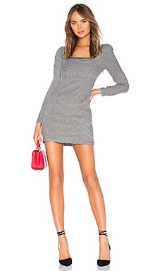 Купить Мини платье the lila - L'Academie цвет black & white