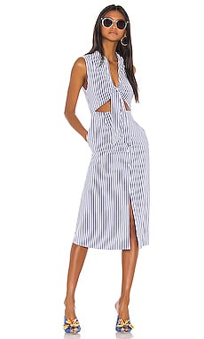 The Yves Midi Dress L'Academie $178 NEW ARRIVAL