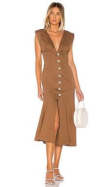 The Gabrielle Midi Dress L'Academie $198 NEW ARRIVAL