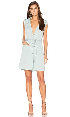 The Sleeveless Shirt Dress in Seafoam