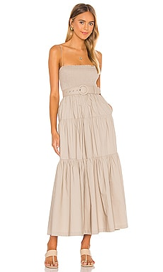 The Nour Midi Dress L'Academie $258 NEW
