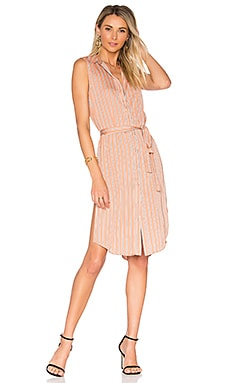 The Sleeveless Midi Dress in Surrey Stripe