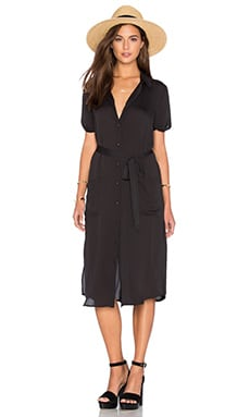 L'Academie The Shirt Dress in Black