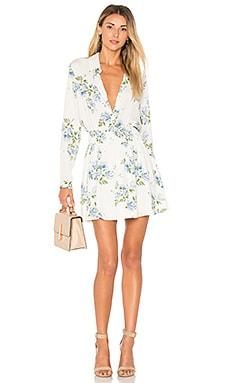 Купить Жатое платье - L'Academie, Длинные рукава, Китай, Белый