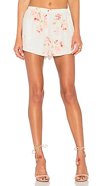 The Mini Short in Peach Floral