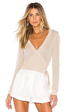 Laurel Wrap Sweater L'Academie $138 BEST SELLER