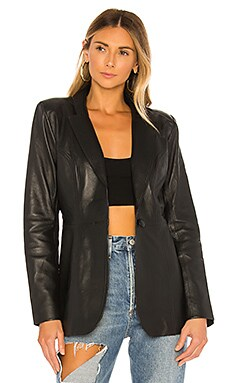 Carmen Leather Blazer L'Academie $548
