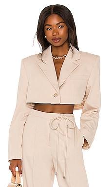 Serafina Cropped Blazer L'Academie $298