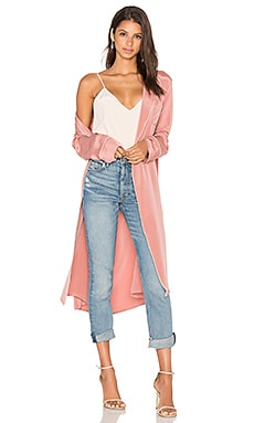 x REVOLVE The Silk Robe in Nude